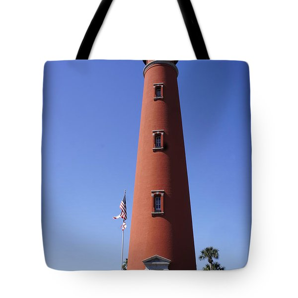 Tote Bag featuring the photograph Ponce Inlet Lighthouse by Laurie Perry