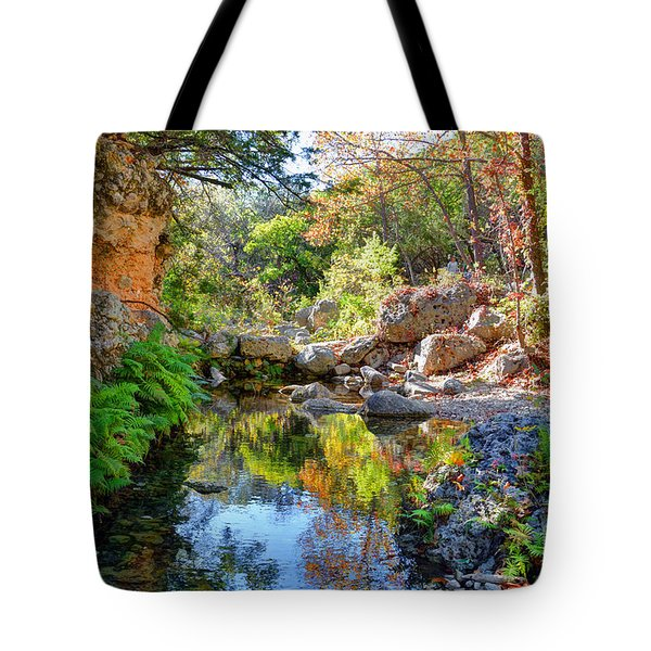 Pond At Lost Maples Tote Bag
