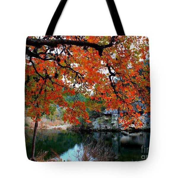 Fall At Lost Maples State Natural Area Tote Bag