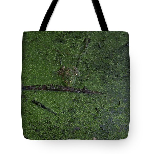 Tote Bag featuring the photograph Pond Eyes by Robert Nickologianis
