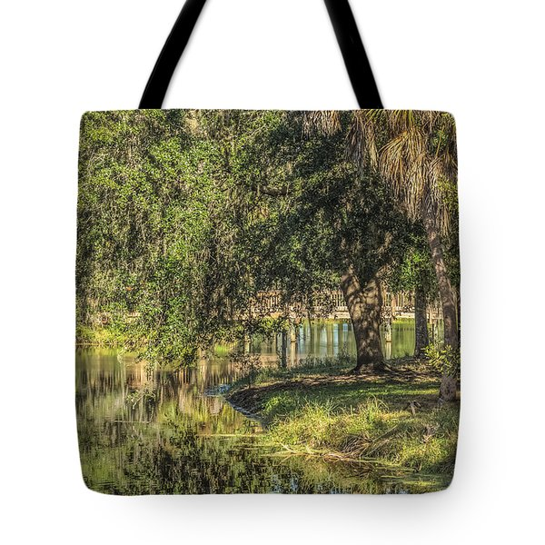 Pond Reflections Tote Bag by Jane Luxton