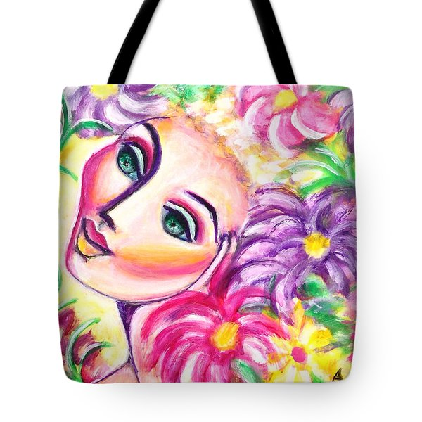 Pondering In A Garden Tote Bag