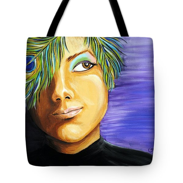 Pondering Peacock Tote Bag