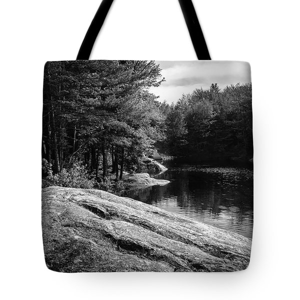 Tote Bag featuring the photograph Pondside by Mark Myhaver