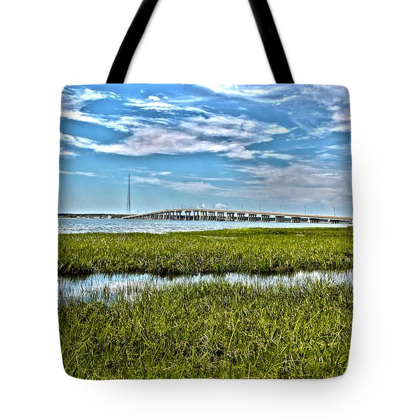 Ponquogue Bridge Tote Bag