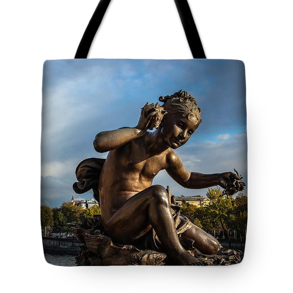 Tote Bag featuring the photograph Pont Alexandre IIi by Glenn DiPaola