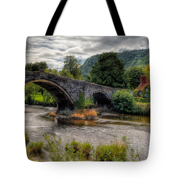 Pont Fawr 1636 Tote Bag by Adrian Evans