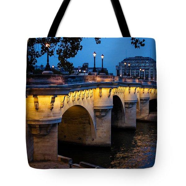 Pont Neuf Bridge - Paris France Tote Bag