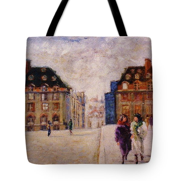 Tote Bag featuring the painting Pont Neuf by Walter Casaravilla