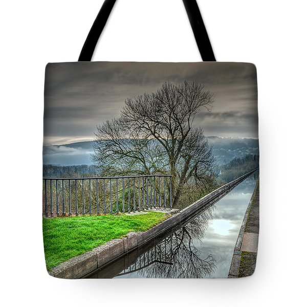Pontcysyllte Aqueduct Tote Bag by Adrian Evans