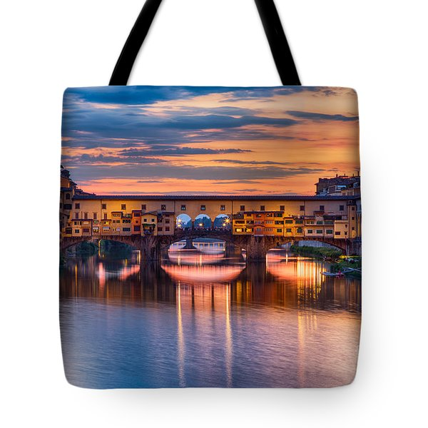 Ponte Vecchio At Sunset Tote Bag