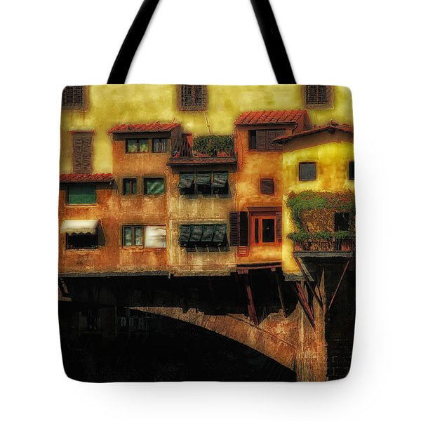 Ponte Vecchio Firenze Tote Bag by Mike Nellums