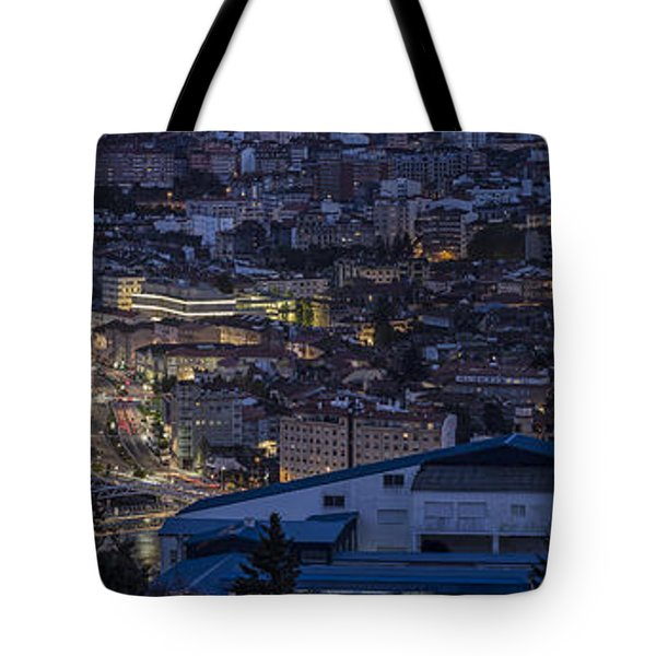 Tote Bag featuring the photograph Pontevedra Panorama From A Caeira by Pablo Avanzini