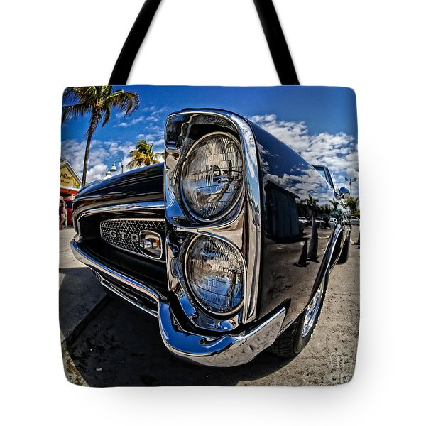 Pontiac Gto Convertible Ft Myers Beach Florida Tote Bag by Edward Fielding