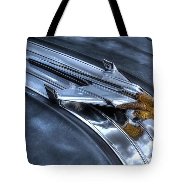 Tote Bag featuring the photograph Pontiac Hood Ornament by Michael Colgate