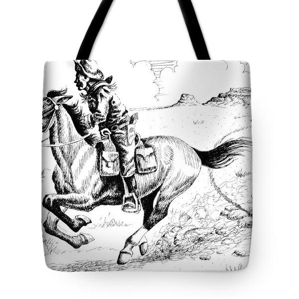 Pony Express Rider Tote Bag