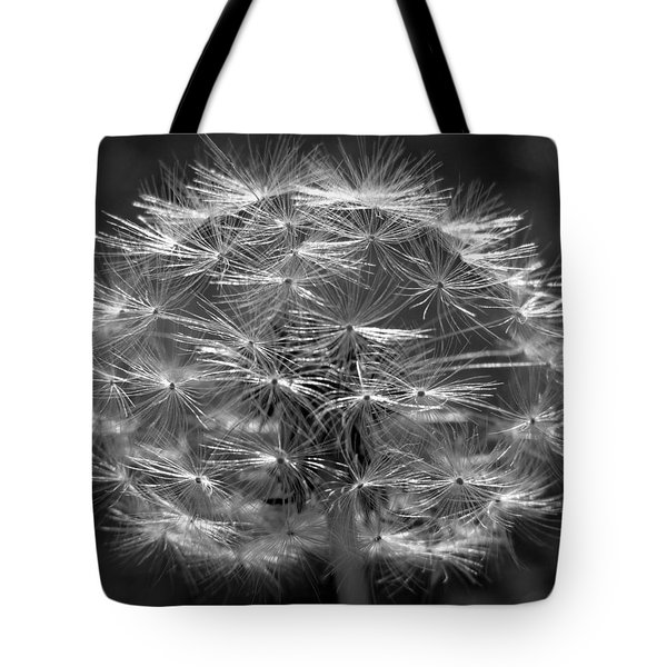 Tote Bag featuring the photograph Poof - Black And White by Joseph Skompski