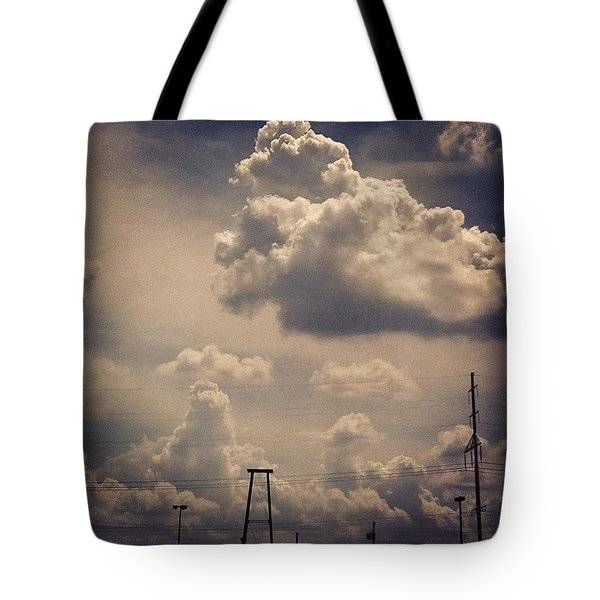 Poofy Clouds Today Tote Bag