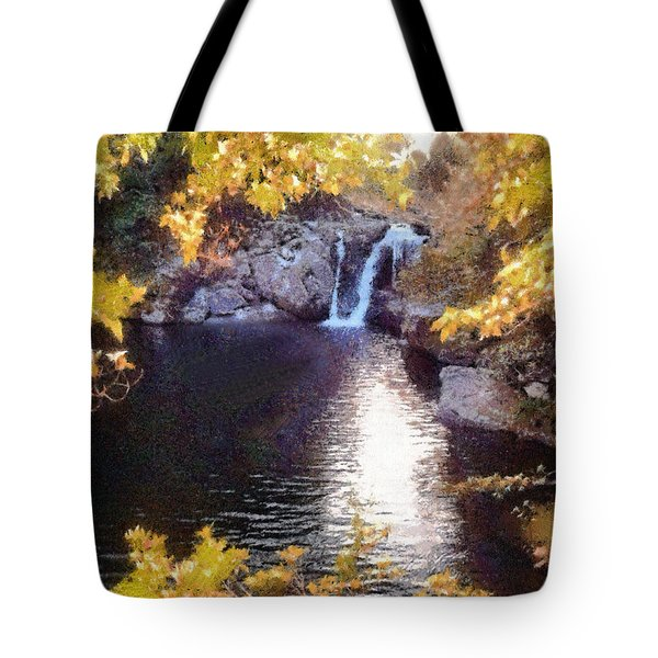 Pool And Falls Tote Bag by Charmaine Zoe