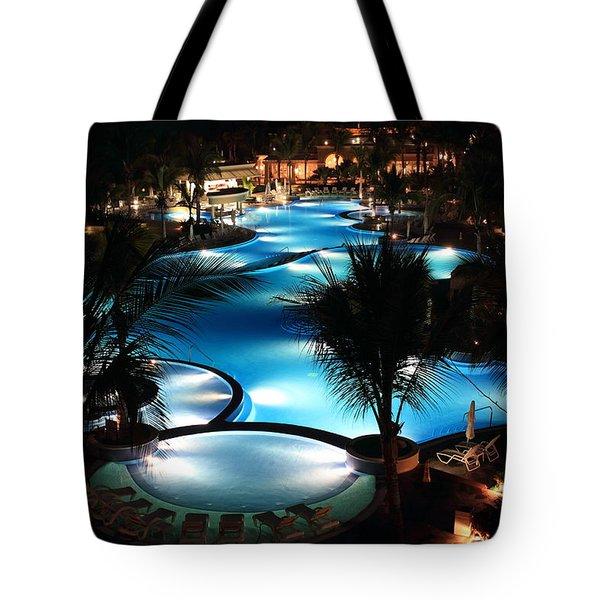 Pool At Night Tote Bag