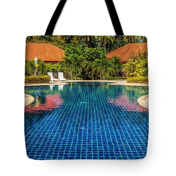 Pool Time Tote Bag by Adrian Evans