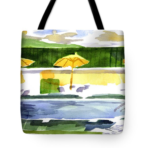 Poolside Tote Bag by Kip DeVore