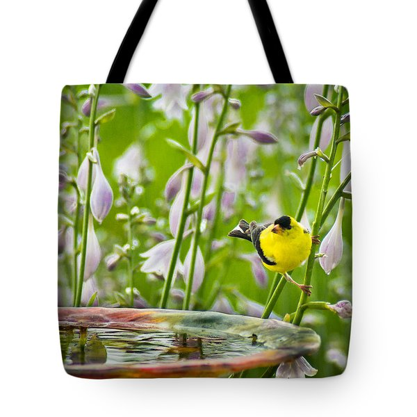 Poolside Perch Tote Bag