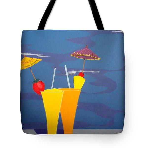 Poolside Umbrella Drinks Tote Bag