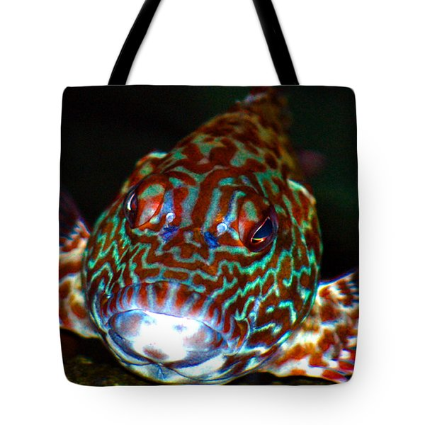 Poopaa Hawaiian Hawk Fish Tote Bag by Lehua Pekelo-Stearns