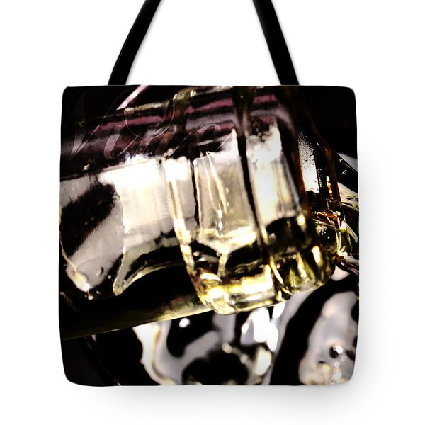 Pooring White Wine Tote Bag by Tommytechno Sweden
