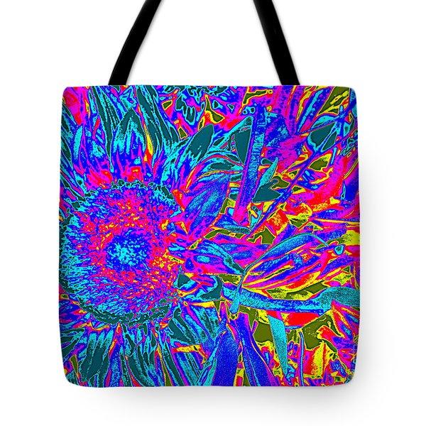 Pop Art Blossoms Tote Bag by Dora Sofia Caputo Photographic Art and Design