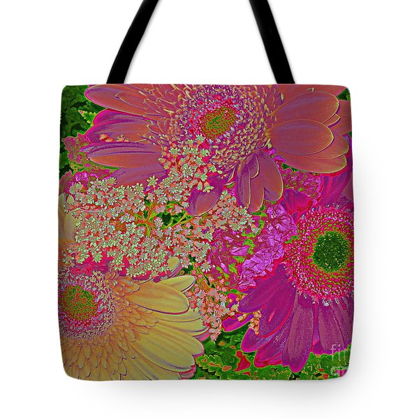 Pop Art Daisies Tote Bag by Dora Sofia Caputo Photographic Art and Design