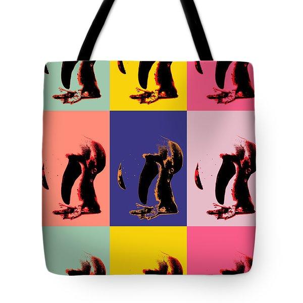 Pop Art Penguin  Tote Bag