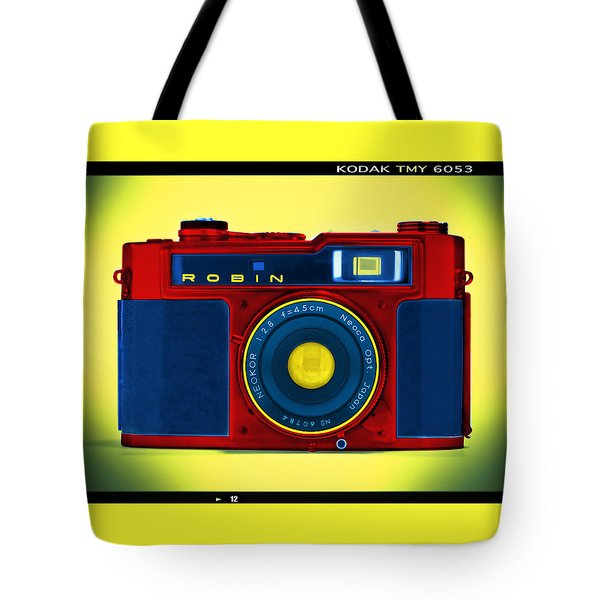 Pop Art Robin Tote Bag by Mike McGlothlen