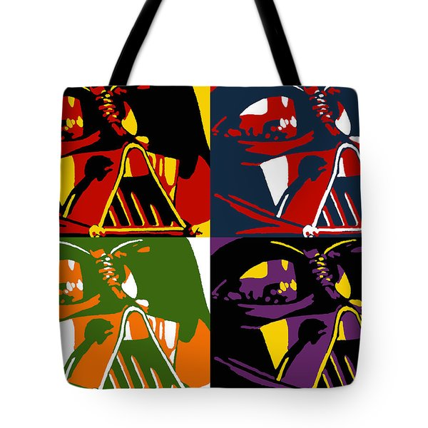 Tote Bag featuring the painting Pop Art Vader by Dale Loos Jr