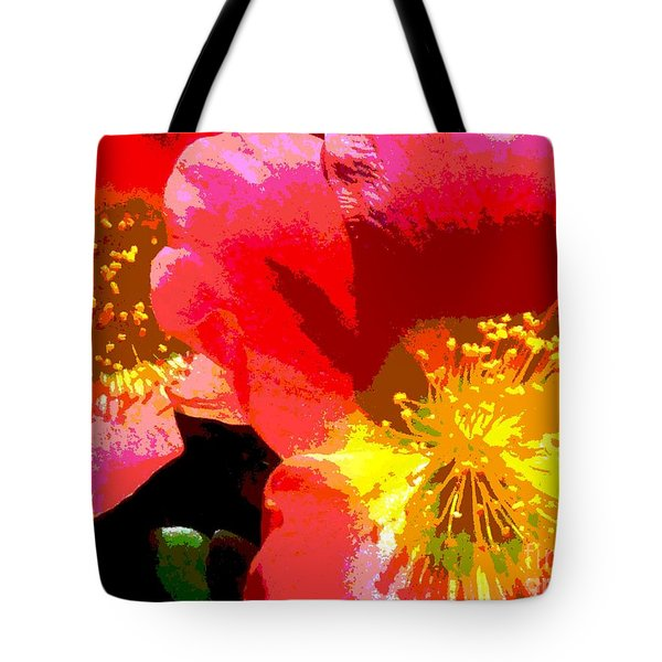 Tote Bag featuring the photograph Pop Goes The Poppy by Sally Simon