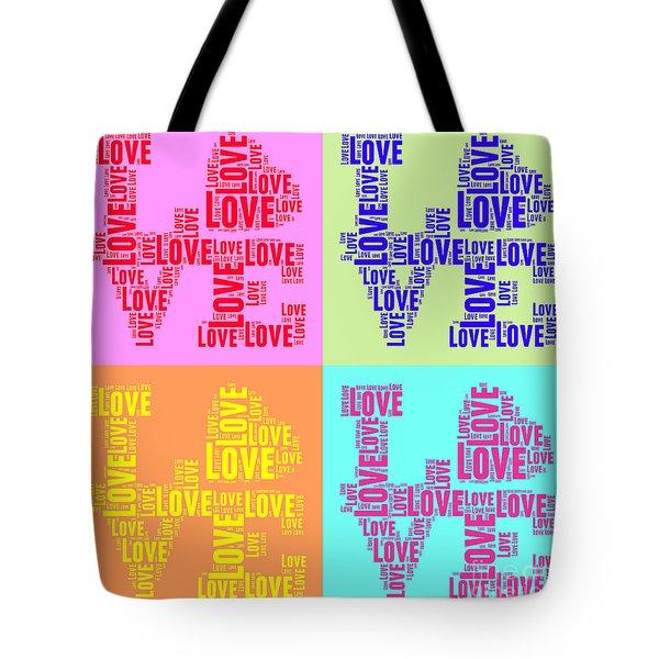 Pop Love Collage Tote Bag