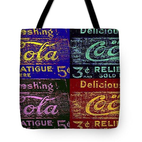 Pop Cocacola Tote Bag