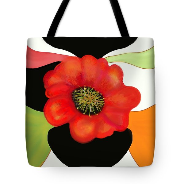 Pop Poppy Tote Bag