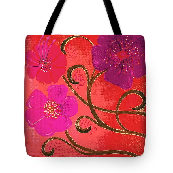 Pop Spring Purple Flowers Tote Bag