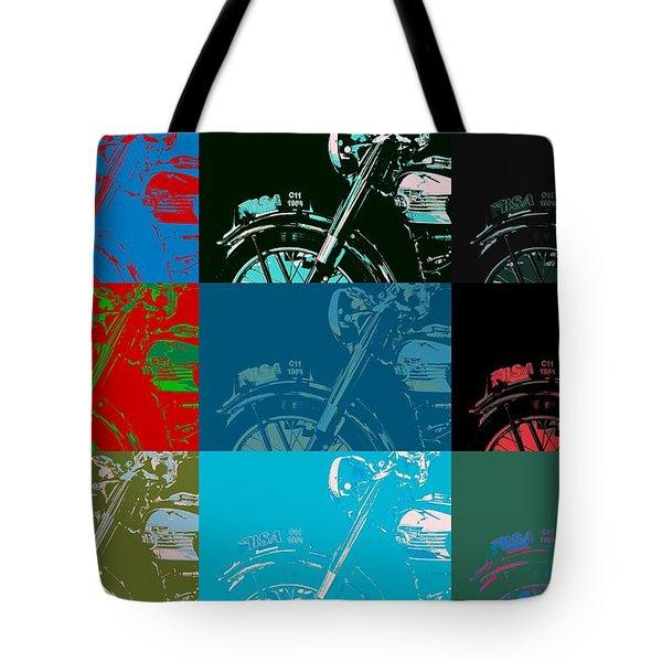 Popart Motorbike Tote Bag