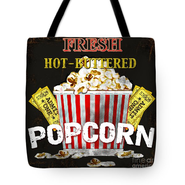Popcorn Please Tote Bag by Jean Plout