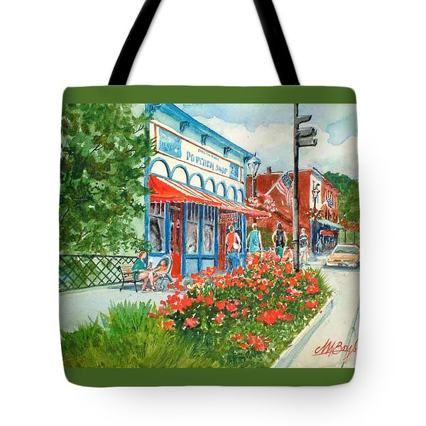Popcorn Shop In Summer/chagrin Falls Tote Bag