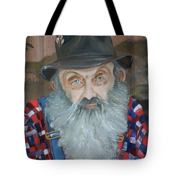 Popcorn Sutton - Moonshiner - Portrait Tote Bag