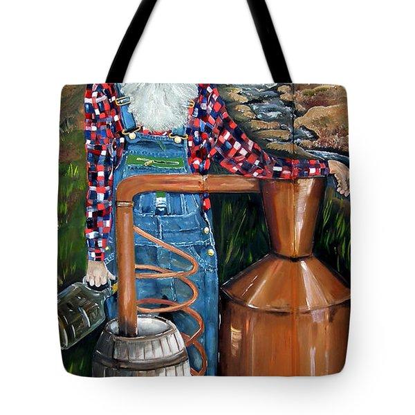 Popcorn Sutton - Moonshiner - Redneck Tote Bag