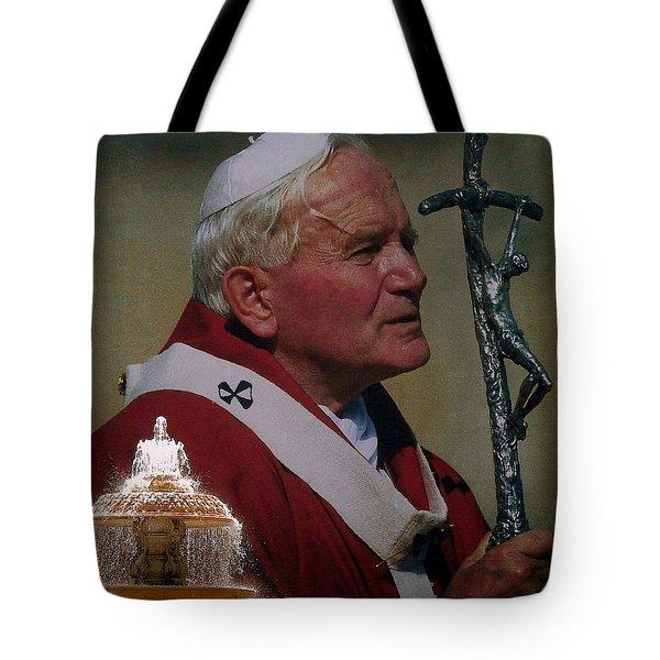 Pope John Paul I I Tote Bag