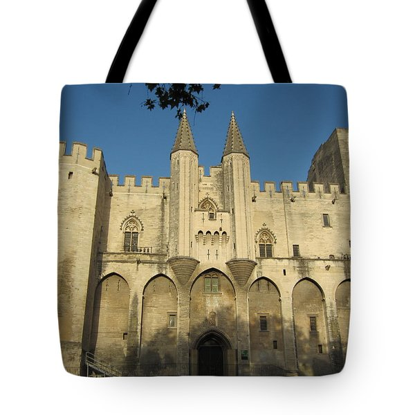 Popes Palace In Avignon Tote Bag by Pema Hou