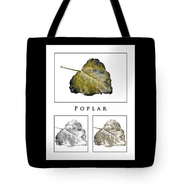 Tote Bag featuring the photograph Poplar Leaf 3x White by Greg Jackson