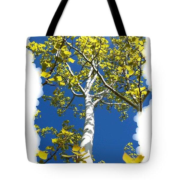 Poplar Tree In Spring  Tote Bag by Will Borden