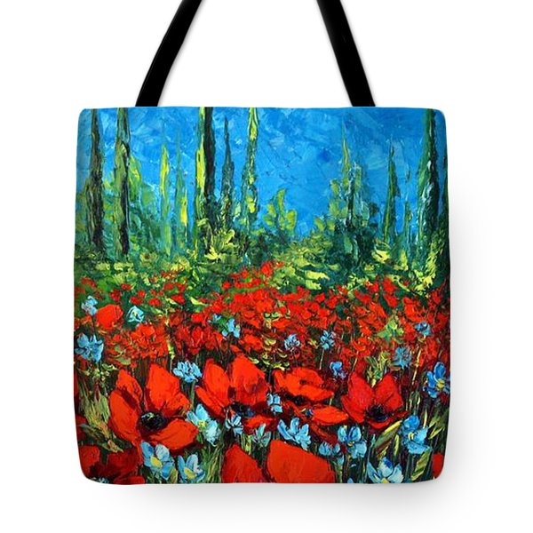 Poppie Field Tote Bag